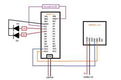 Nano V3 + SIM800L v2 - 2 diody + call - dlaczego świecą obie?
