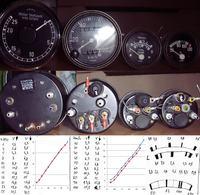 wojskowe VDO - wyprowadzenia zegar�w : pr�dko�ciomierz, obrotomierz