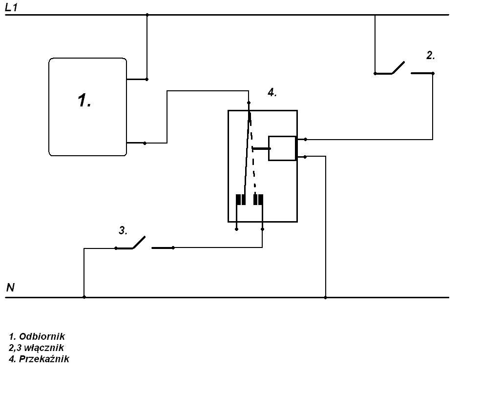przeka�nik R-15 230V 50Hz nie podtrzymuje obwodu urz�dzenia