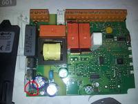 Sterownik Somfy 5054240C - Nie działa, uszkodzony zasilacz.
