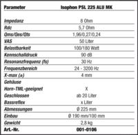 Głośnik isophon psl 225/180 alu