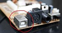 Wymiana USB na p�ytce scalonej - klawiatura MIDI
