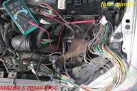 mazda 6 2.0d 2003 - martwe wskaźniki, świecące kontrolki