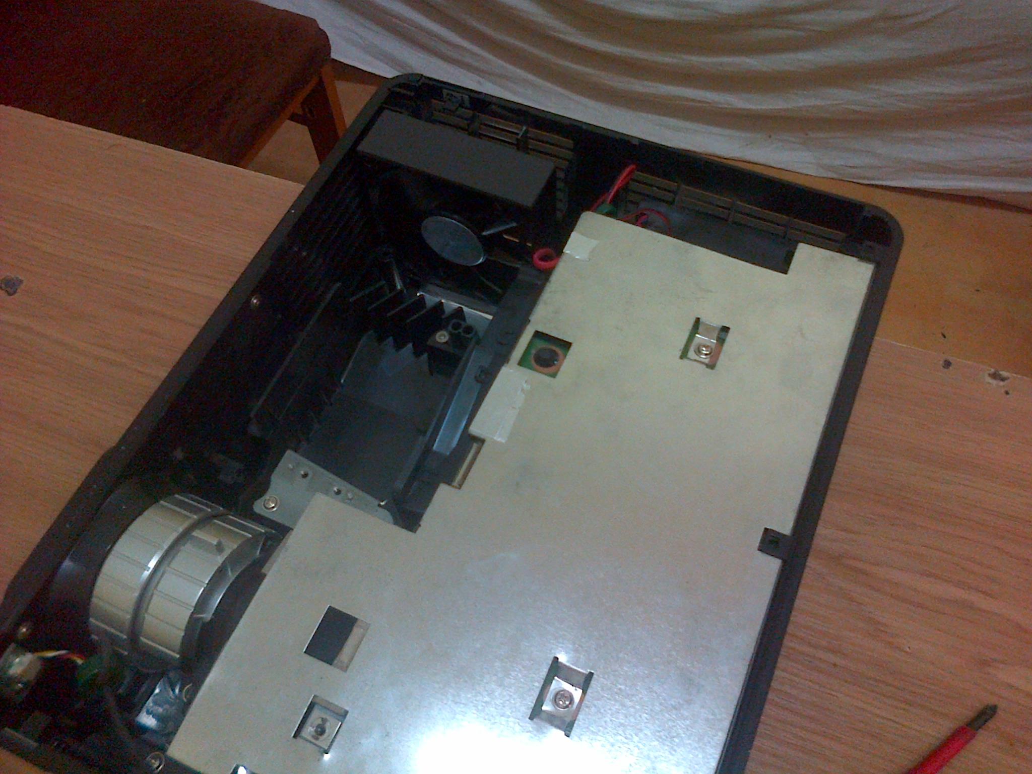 Acer P5260 - W kt�r� strone powinny wia� wentylatory?