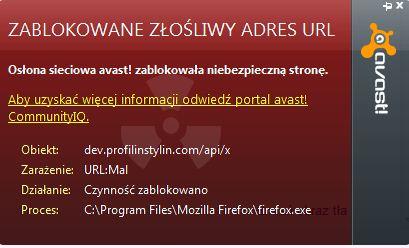 Avast  Blokowanie z�o�liwego adresu url