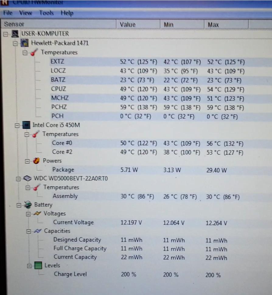 HP ProBook 6550b - Samoczynnie si� wy��cza