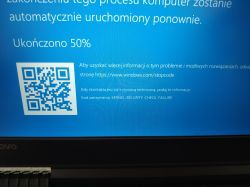 Y520 i5 GTX 1050m4gb - Blue screen ... Pomocy