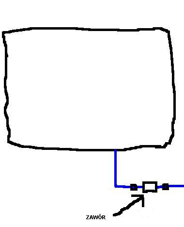 Ciep�a woda z podkowy kuchennej