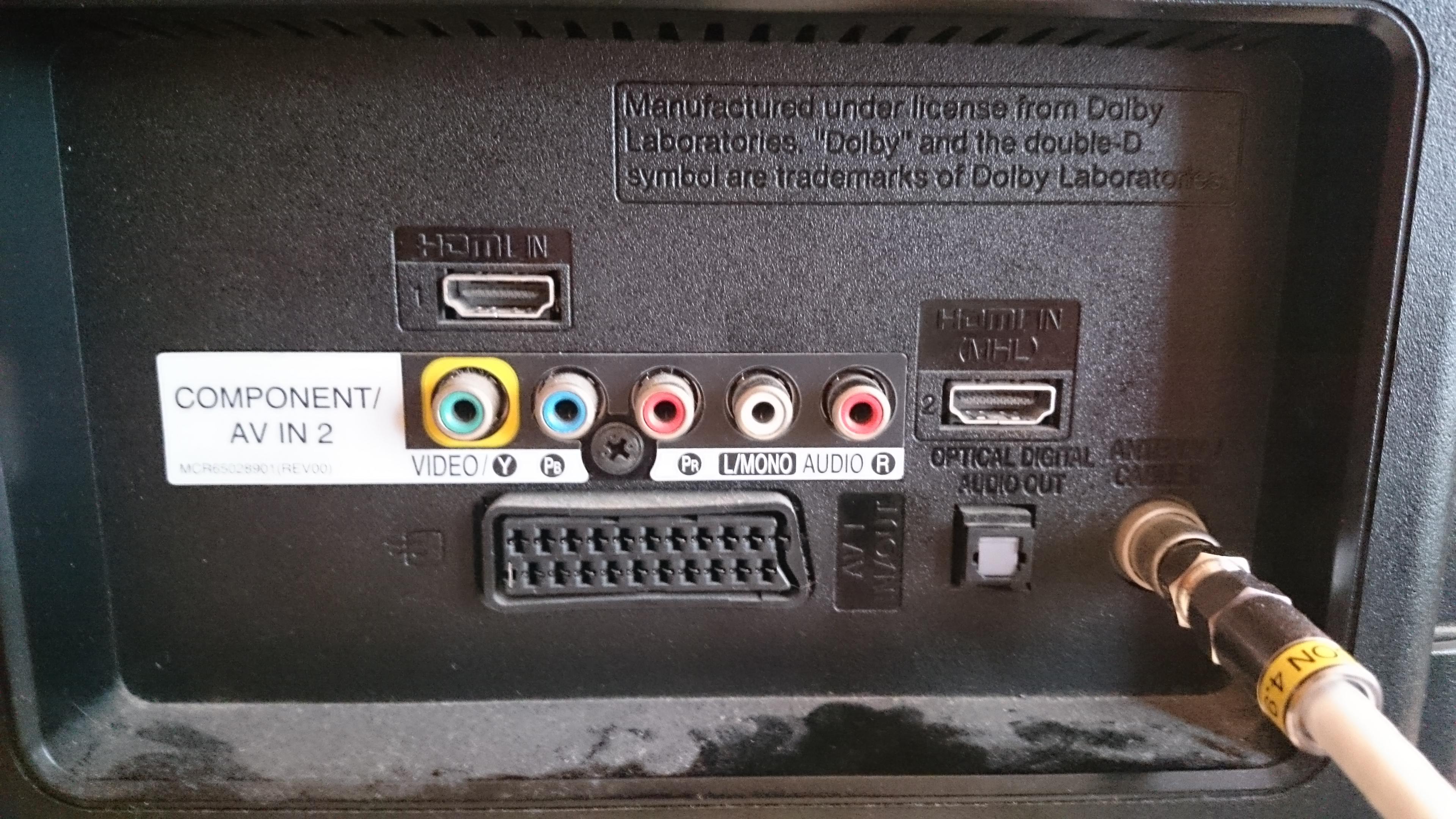 LG 32ln5400 podłączenie słuchawek mini jack do TV