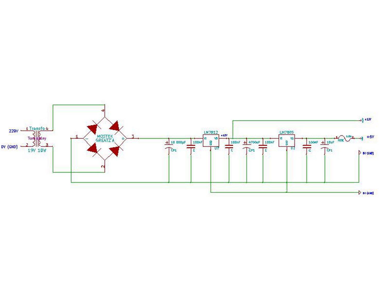 Zasilacz stabilizowany 12V i 5V - Dobry schemat?
