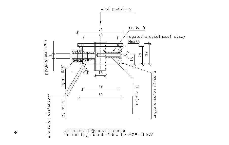 projekt miksera strumieniowego lpg do skody fabi