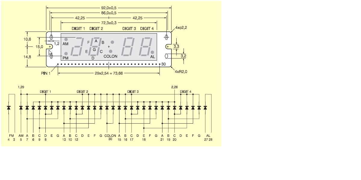 Schemat panelu LED 4HCR21532
