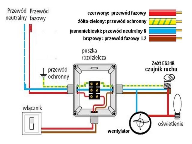 Wentylator Oswietlenie Czujnik Ruchu Elektrodapl