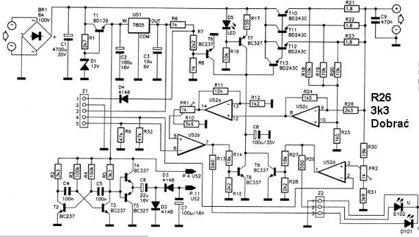 Zasilacz sterowany cyfrowo 0-25V (Nord)