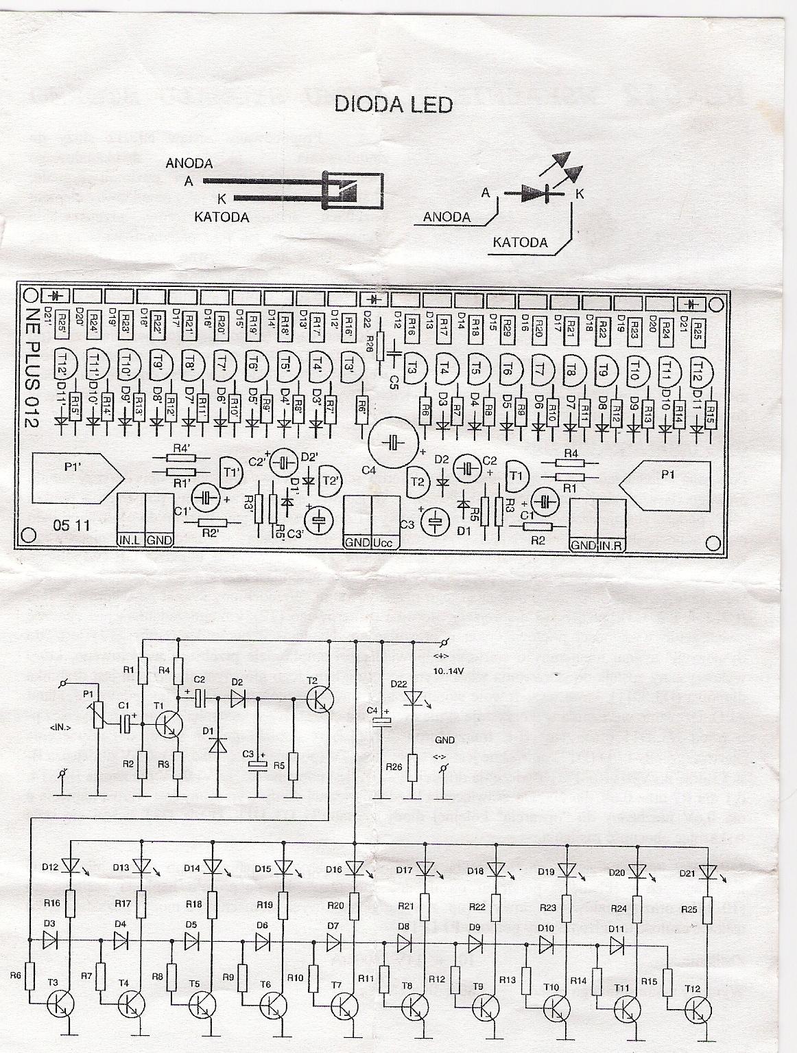 Jak zrobić wskaźnik wysterowania na 30 diod led o mocy 200W?