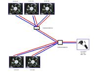 system chłodzenia - 5 wiatraków - inny zasilacz