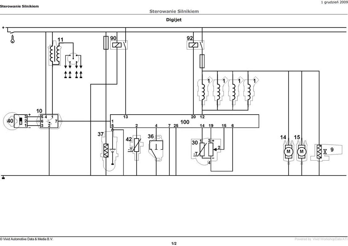 Bardzo dobra VW Golf II 1.3 91' - Schemat instalacji elektrycznej szukam. BE24