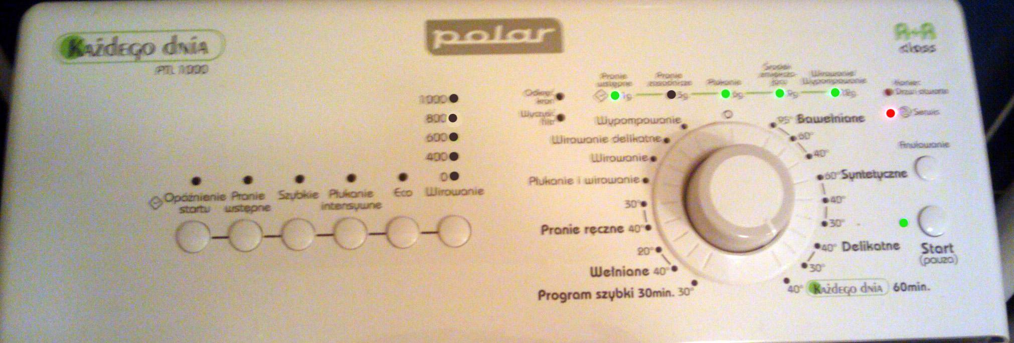 Polar PTL 1000 jaki to kod b��du ?