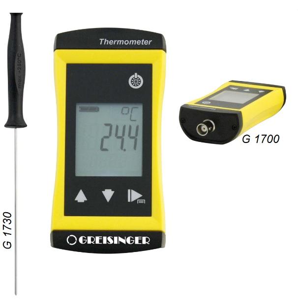 Pomiar temperatury za pomocą termometru wkłuwanego - Greisinger G1700