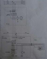 Zabezpieczenie silnika asynch 3-fazowego z hamulcem elektromagnetycznym
