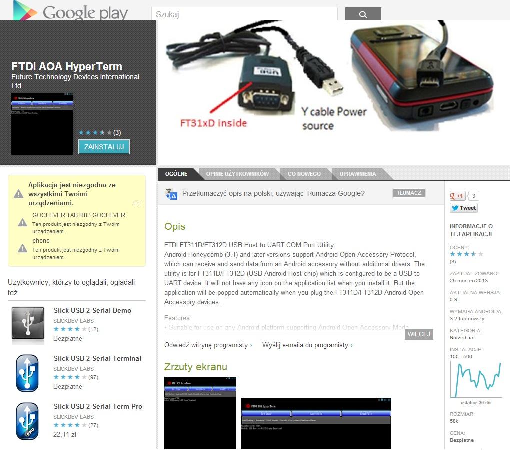 GOCLEVER R83.2 - Nie mo�na zainstalowa� (niekr�rych) aplikacji z Google Play