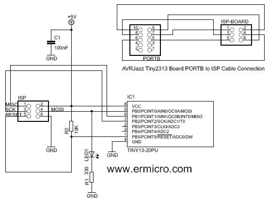 Programowanie AVR poprzez ISP (DAPA z uisp) z optoizolacj� LPT