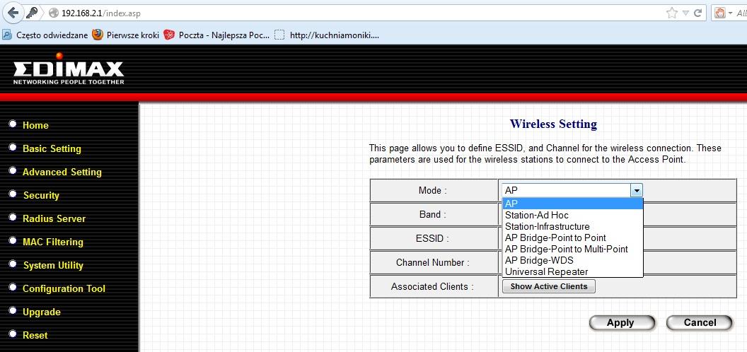 Sparowanie routeru Netgear DGN2200 z ap Edimax EW-7209APg