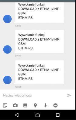 Satel Integra 65 + ETHM1 Plus + INT-GSM - nie wysyła sms i clip
