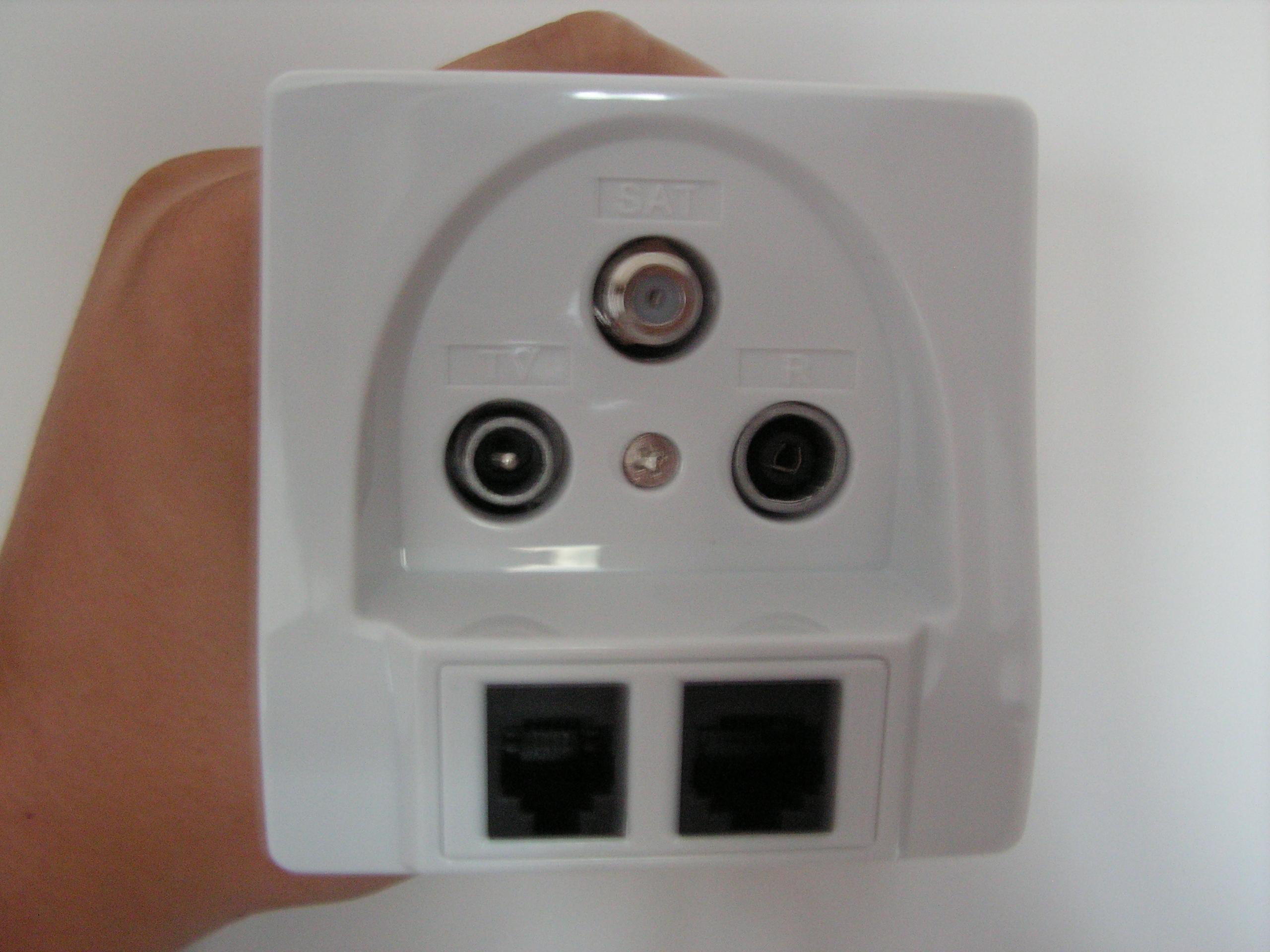 Gniazdka multimedialne w pokojach