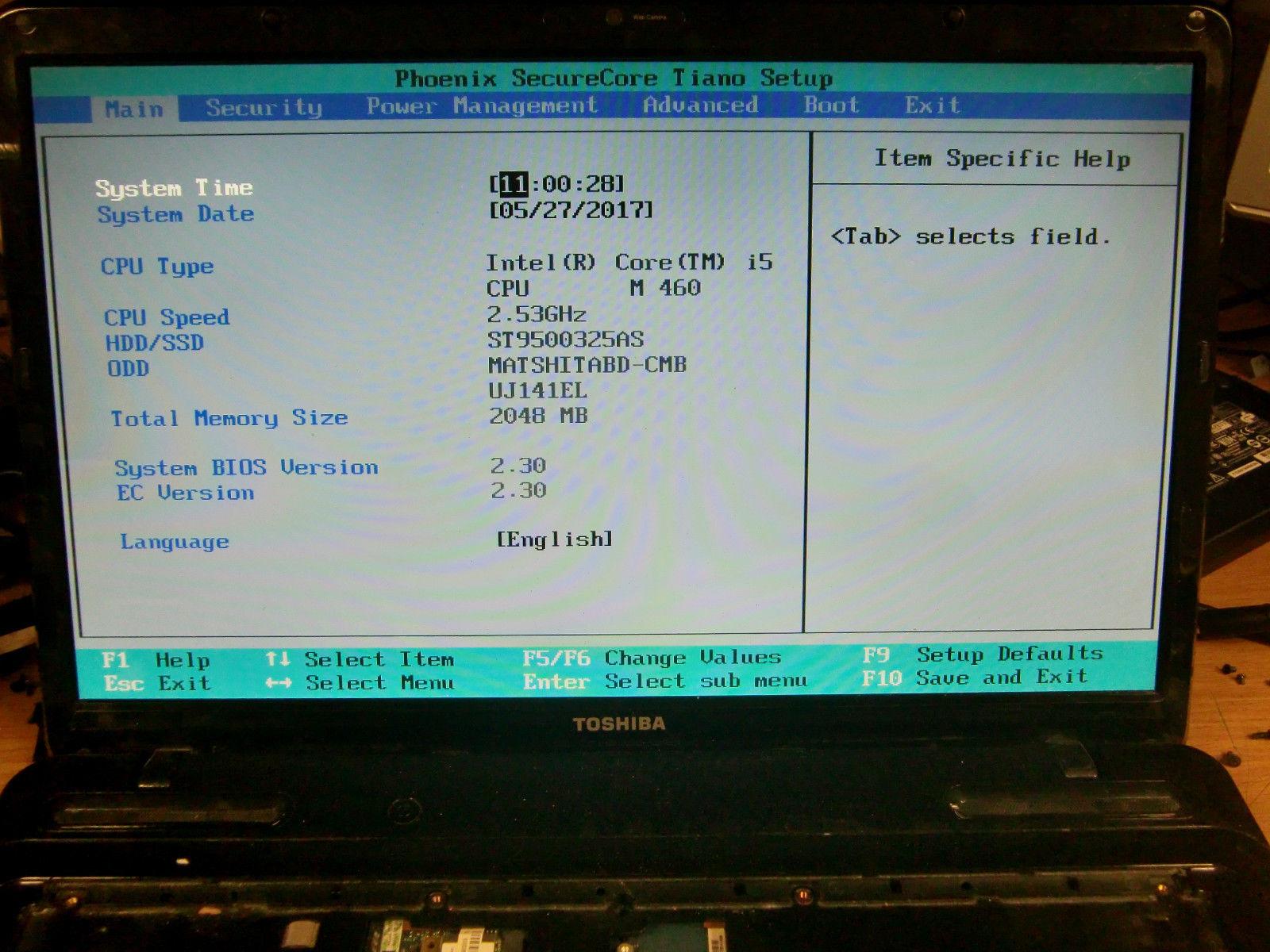 Toshiba Satellite L670 Hardware Setup Drivers Windows XP
