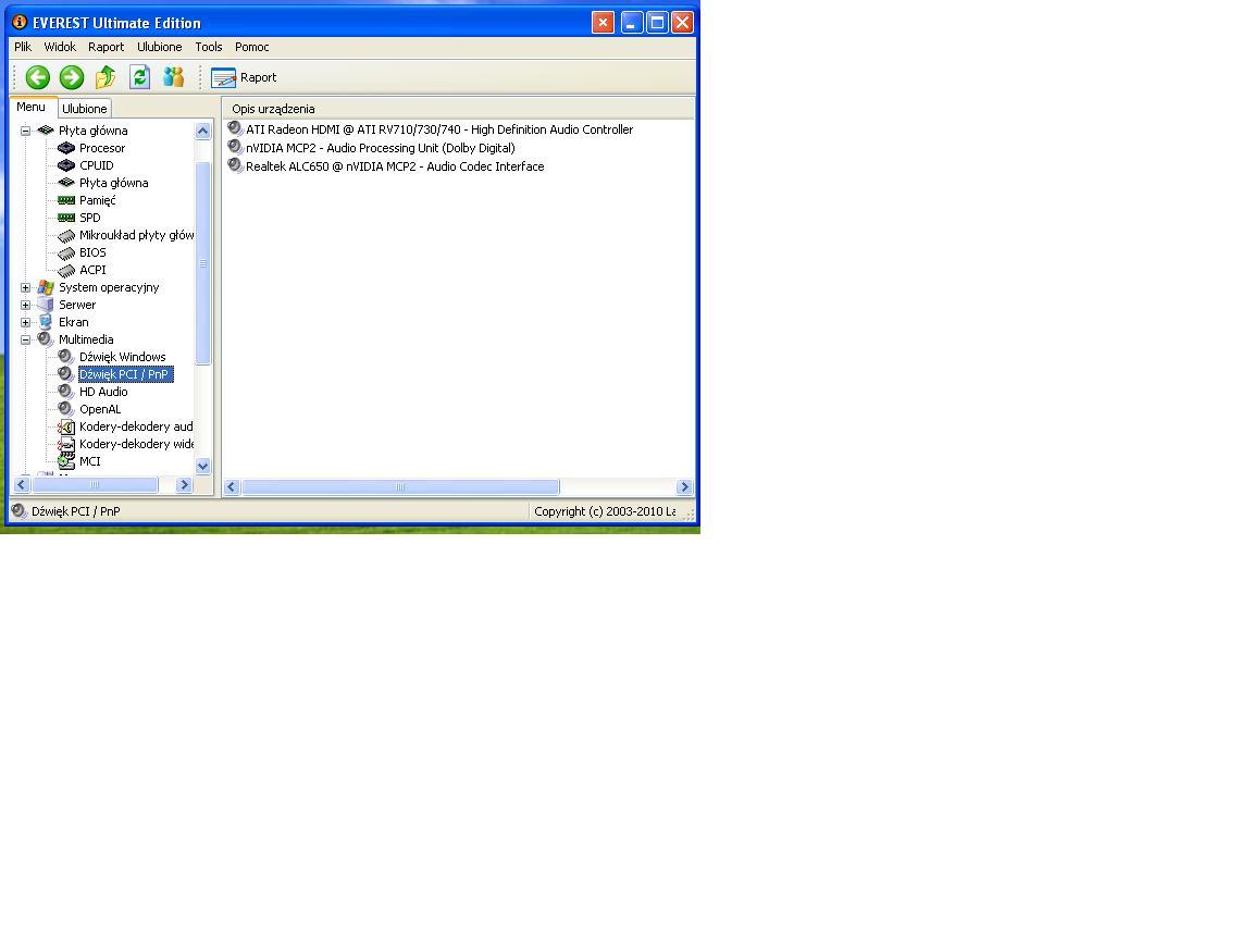 Brak audio w g�o�nikach monitora pod��czonego przez przew�d hdmi.
