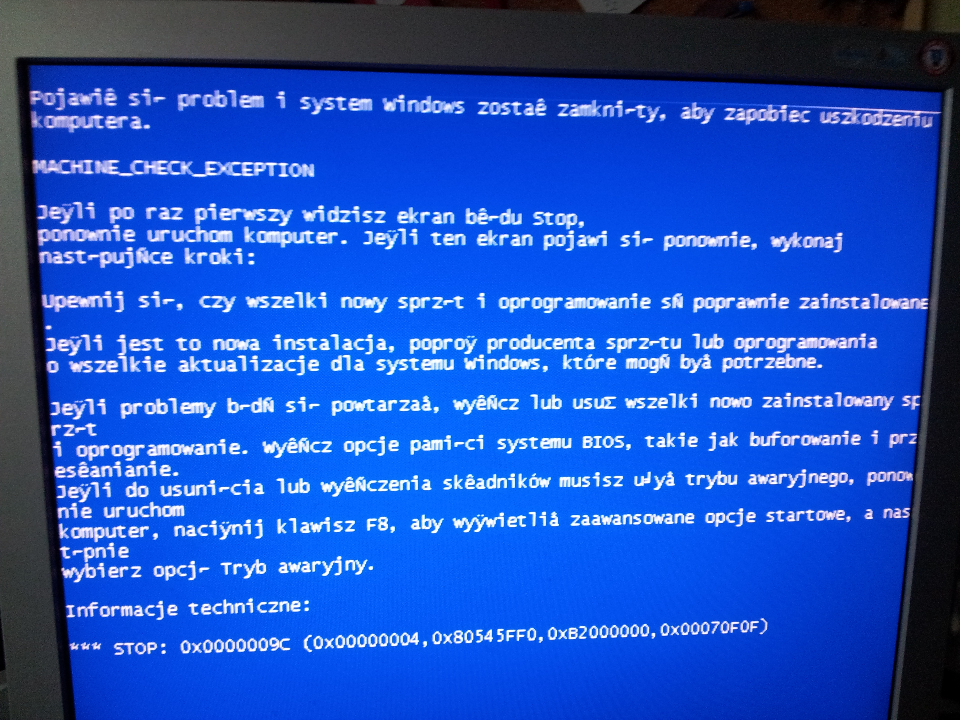 Nie ma obrazu w PC po pod��czeniu HDMI i VGA do GeForce6600 i BSOD