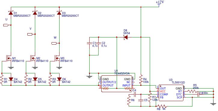 Stratny regulator napięcia 3F - sterowanie