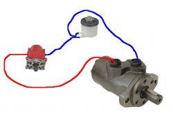 Pompa + silnik hydrauliczny - Napęd hydrauliczny do pojazdu własnej konstrukcji