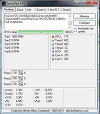 e6750 2.66GHz - 100% pracy procesora i wysoka temperatura