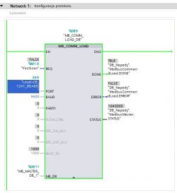 S7-1200 Komunikacja z Falownikiem MX2 Omrona po Modbusie
