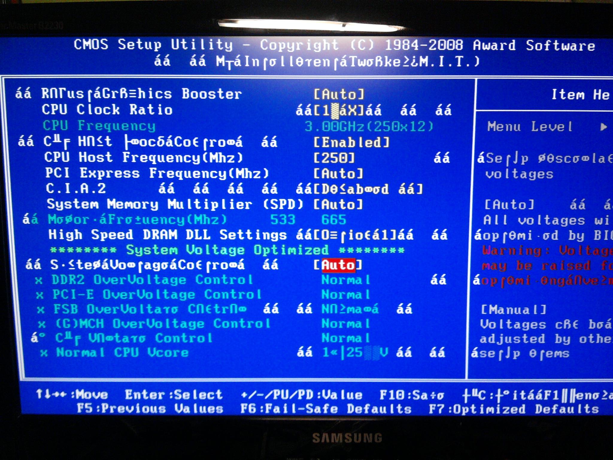 Dziwne krzaki w BIOS-ie - co� sie przegrzewa?