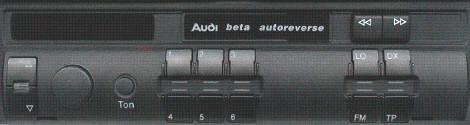 Audi beta zablokowane przyciski