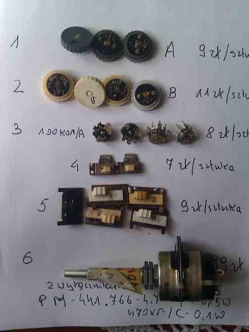 [Sprzedam] Potencjometry radiowe,prze��czniki zakres�w,kondensatory powietrzne