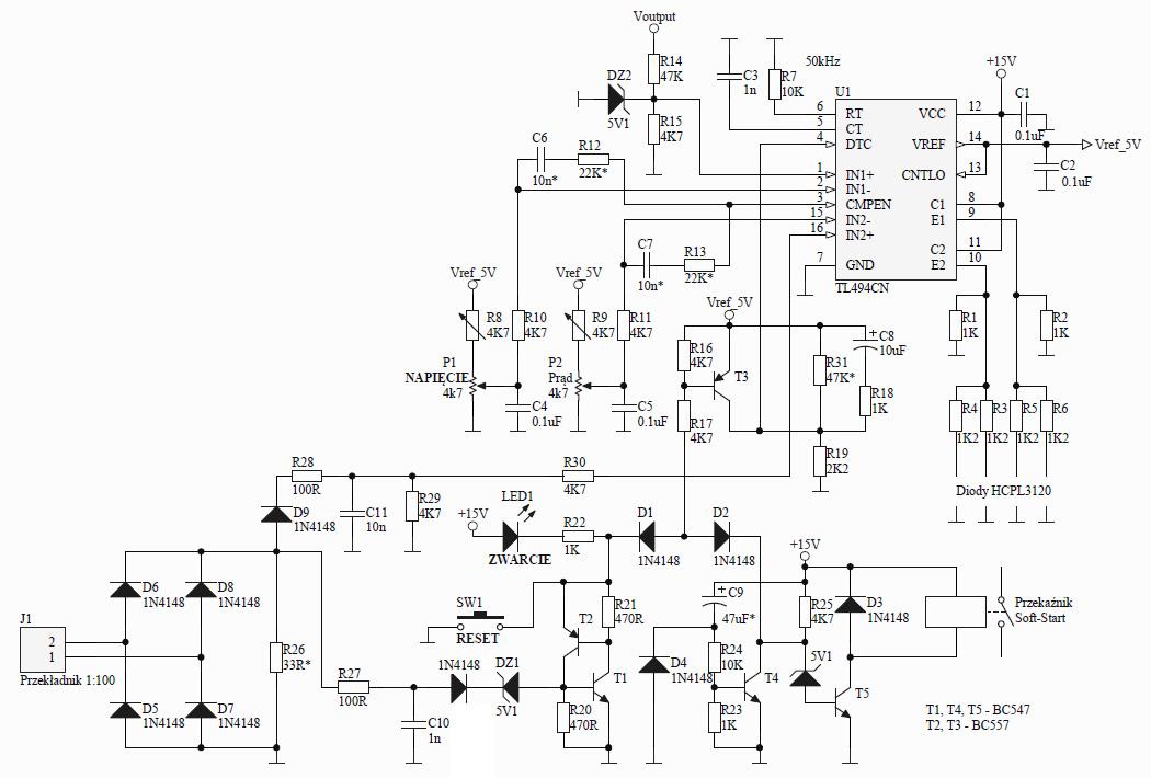 Zasilacz impulsowy uruchamia si� na kilka sekund i pali tranzystory mocy