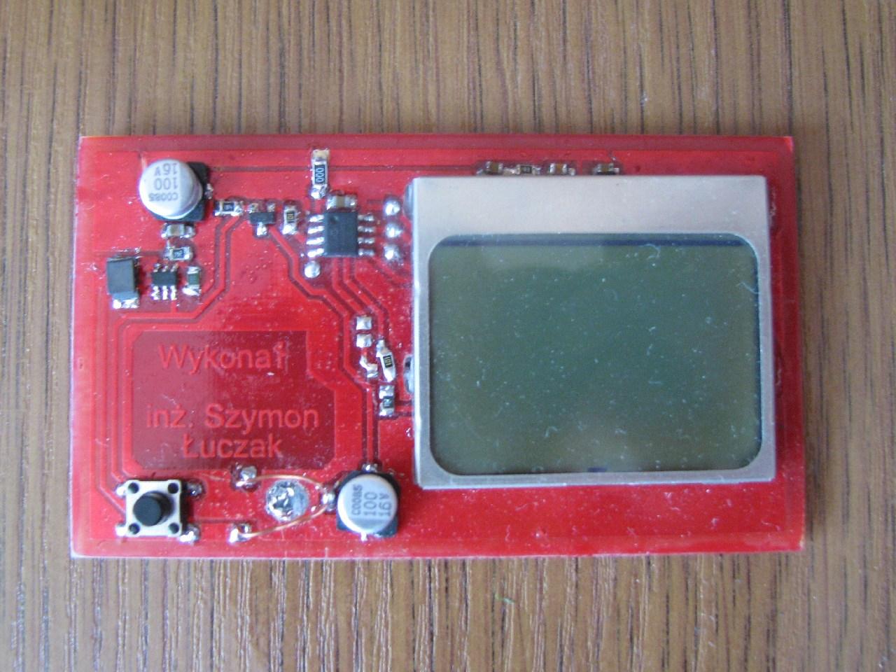 Cyfrowe Portfolio z wy�wietlaczem LCD