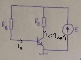 Dobór oporników, aby potencjał kolektora wynosił 5V przy prądzie kolektora 1mA