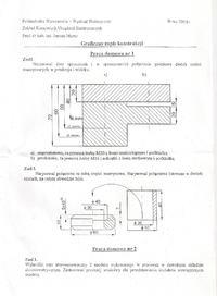 Grafika in�ynierska - po��czenia gwintowe nieprzelotowe i przelotowe.