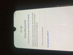 Samsung A50 - blokada konta Google