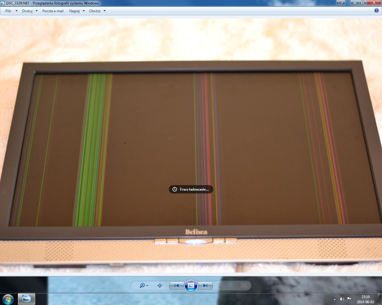 Belinea 102030W - Pionowe paski na ekranie