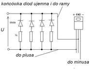 Diody LED w skuterze, mruganie diody,