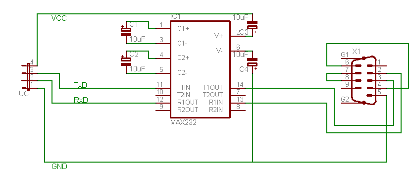 Atmega8 rs232 max232 bascom