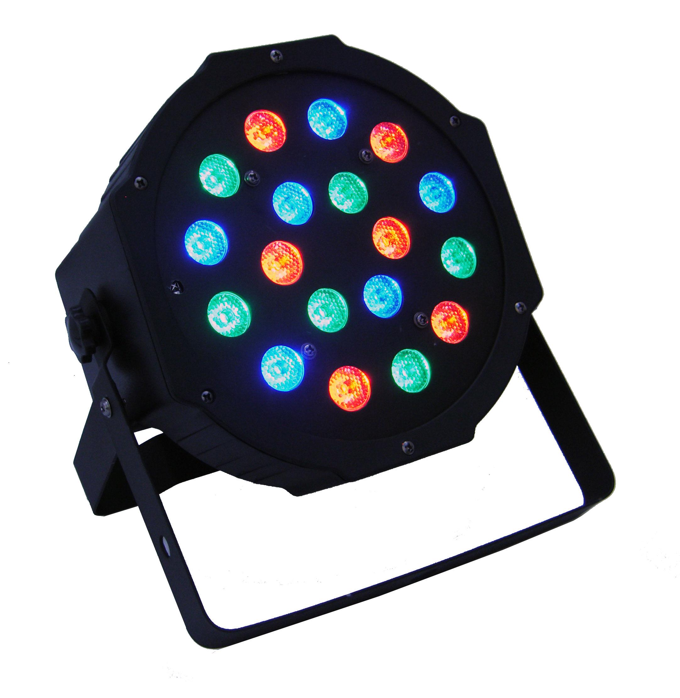 [Sprzedam] Zestaw 4 x PAR LED18x3 FLASH, Statyw, Torba