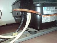 Lodówka INDESIT BAAN10 demontaż rozrusznika z agregatu