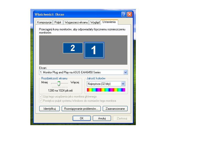 Wy�wietlanie obrazu na drugim monitorze